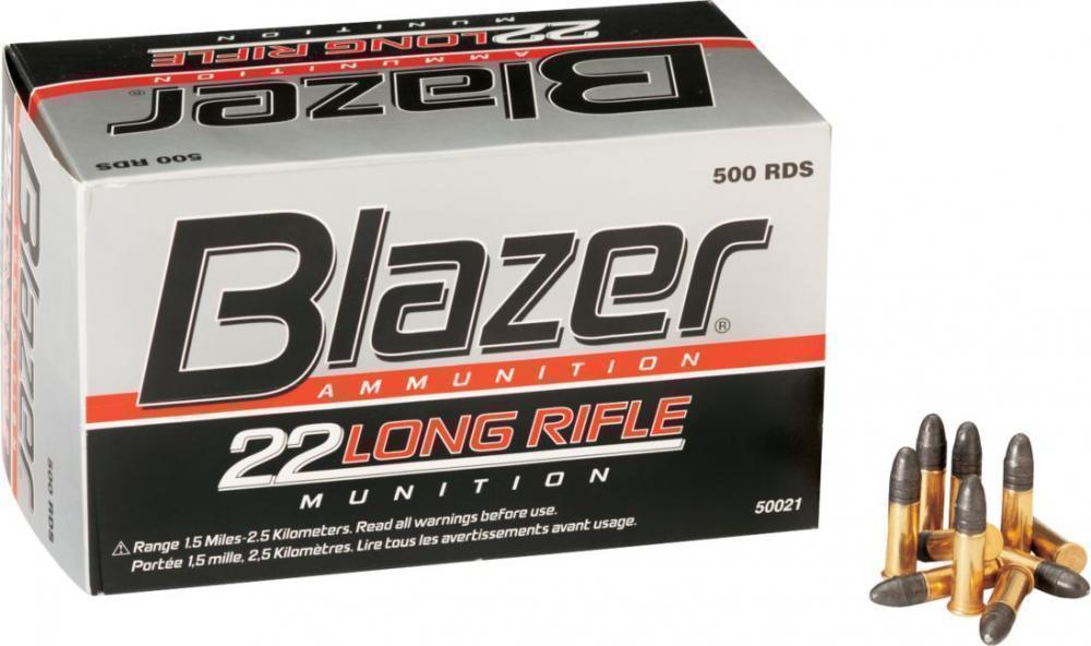 cci blazer 22 lr ammo 40 grain lrn 500 rounds 27 99 limit 1