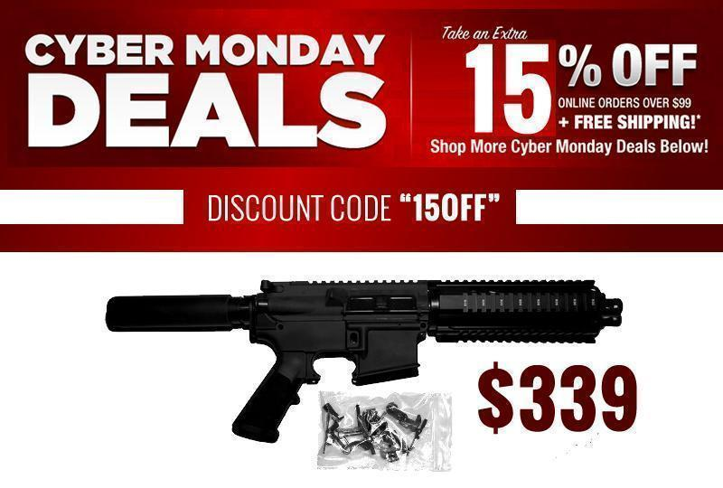 Cyber Sale Continues to Sunday!! 15% OFF + FREE Shipping! AR-15 Pistol w/  80% Lower - $339