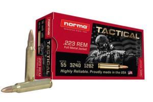 NORMA USA 223 Remington 55 gr Full Metal Jacket (FMJ) 500/Case 000010364517