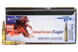 FEDERAL AMMUNITION XM193 5.56mm 55 gr FMJ 600 Round Case 000010393584