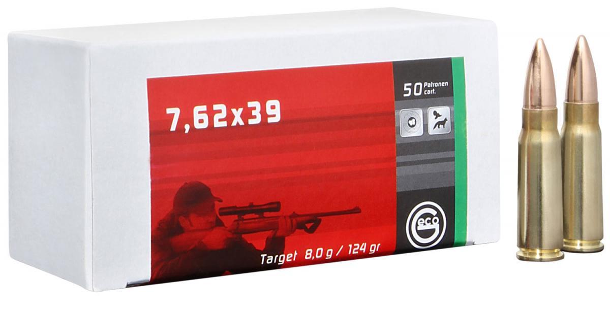 GECO 265840020 7.62x39 7.62x39mm 124 GR Full Metal Jacket 20 Bx/ 50 Cs 000294186585