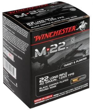 Winchester 22LR 40RN M22, 1 Box with 2000 Rounds/Box 002089210277