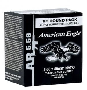 Federal Premium 556 90 CLIP, 5 Boxes with 90 Rounds/Box 002946506513