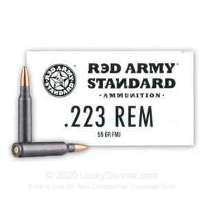 223 Rem - 55 Grain FMJ - Red Army Standard - 1000 Rounds AM3089