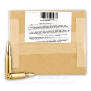 7.62x51mm - 149 gr FMJ M80 - Lake City - 500 011620181545