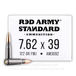 7.62x39 - 122 Grain FMJ - Red Army Standard - 1000 Rounds 012120205682