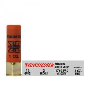 Winchester Super-X 12GA 3-inch 1oz Rifled 5rds X123RS15