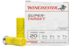 WINCHESTER AMMO 20 GA 2 3/4 Inches 2 1/2 7/8 oz 7.5 Shot Super Target 25/Box 020892016293