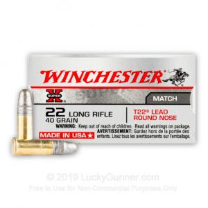 Winchester SPRX 22LR Target 40GR Lead Round Nose Box of 50 XT22LR XT22LR