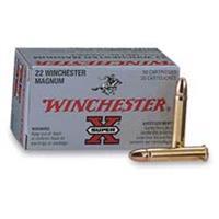 Winchester, Super-X, .22 Magnum, FMJ, 40 Grain, 50 Rounds X22M
