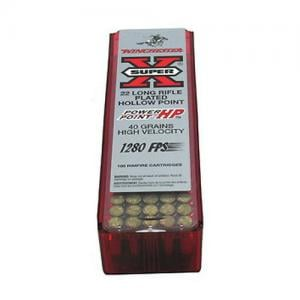 Winchester Super-X .22LR 40GR Power-Point HP 100rds X22LRPP1