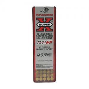 Winchester Super-X 22LR 40GR High Velocity HP 100rds XHV22LR