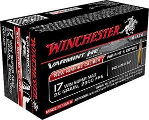 Winchester Varmint High Energy .17WSM 25GR Polymer Tip 50Rds S17W25