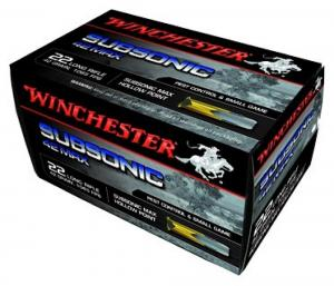 Winchester Subsonic 42 Max 42GR Hollow Point Brass .22 LR 50Rds W22SUB42U