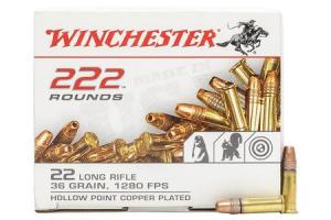 Winchester Ammo .22 LR 36gr CP HP 222 Round Box 22LR222HP 020892103467