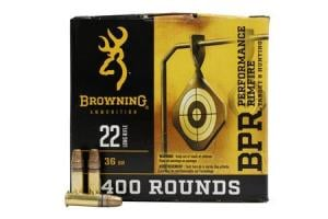 BROWNING AMMUNITION 22LR 36 gr Copper Plated HP 400/Box 020892104303