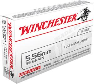 Winchester Ammunition 55 Grain Full Metal Jacket Brass 5.56 20Rds Q3131L