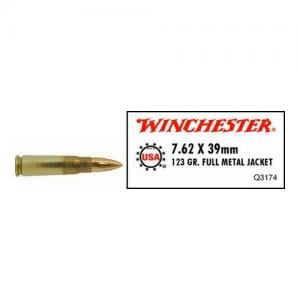 Winchester USA, 762x39, 123 Grain, Full Metal Jacket 20rds Q3174