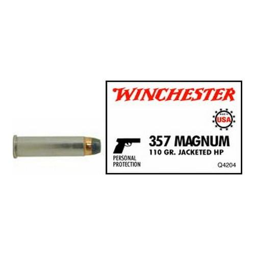 Winchester USA 357MAG 110JHP 50rds Q4204