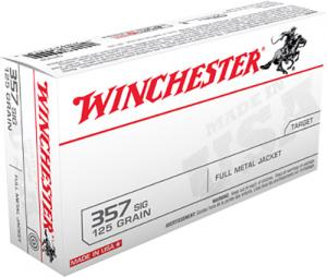 Winchester Best Value FMJ 125 Grain Brass .357 Sig 50Rds Q4309