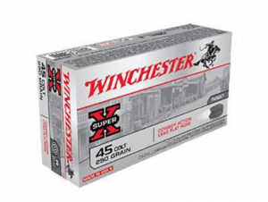 Winchester Super-X Cowboy Action .45LC 250GR Lead Flat Nose 50Rds USA45CB