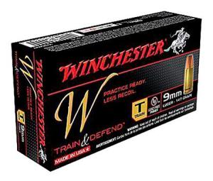 Winchester W Train & Defend 9mm 147GR FMJ 50Rds W9MMT