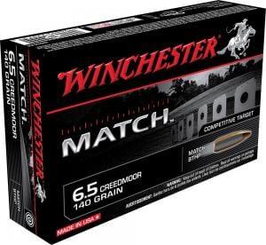 Winchester Match 6.5 Creedmoor 140GR BTHP 20Rds 020892220713