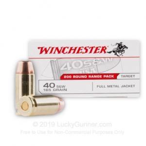 40 S&W - 165 Grain FMJ - Winchester USA - 600 Rounds USA40W