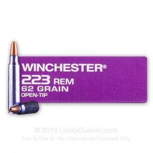 223 Rem - 62 Grain OT - Winchester DHS Purple Casing - 20 Rounds 020892222113