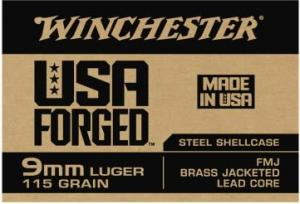 Winchester USA Forged 9mm 115 Grain FMJ 50 Rounds 020892224148