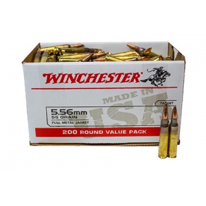 Winchester USA 5.56 55 Grain Full Metal Jacket 200 Round Box USA556L2 USA556L2