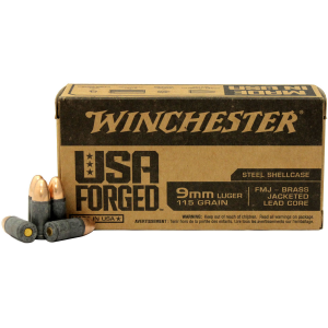 Winchester Ammunition USA Forged 9MM 115 Grain Full Metal Jacket 1000 Round Case WIN9SK 9SK