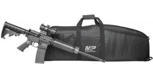 SMITH AND WESSON MP15 Sport II OR 5.56mm w/ Duty Series Gun Case and UTG CQB Red/Green T-Dot Optic 022188874822