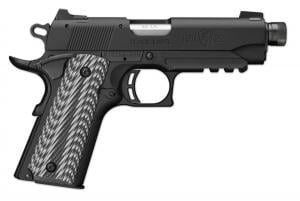 Browning 1911-22 Black Label Suppressor Ready with Rail Black and gray G-10 with angled serrations .22 LR 4.25-inch 10Rd 051821490