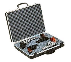 Plano 10404 Gun Guard DLX Four Pistol Case Alligator Textured Polymer Black 10404