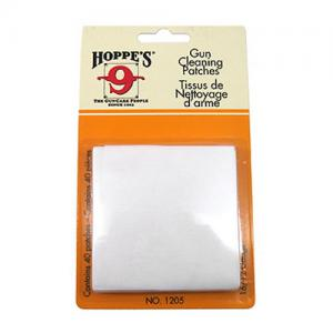 Hoppes Cleaning Patch 16-12GA 25/Bag 1205