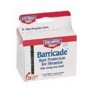 Birchwood Casey 33025 BTA25 Barricade Wipes 25 33025