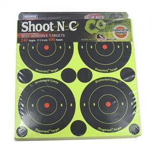 Birchwood Casey B390 Shoot-N-C 3 inch Round Target 90 Pack 3437590