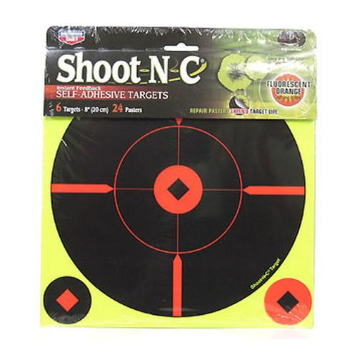 Birchwood Casey BMW-6 Shoot-N-C 8 inch Round X Target 6-Pack 34806