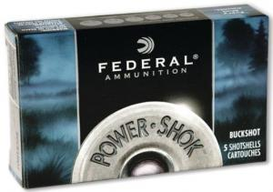 Federal Power-Shok 16GA 2.75-inch 1BK 12Pellets 5Rds F1641B