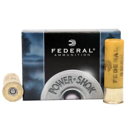 Federal PowerShok Buckshot 20 GA 2.75-inch Max Dram 3 Buck 5Rds F2033B