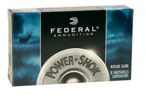 Federal PowerShok Rifled Hollow Point Slug, 5 Round Box 12 GA F127RS