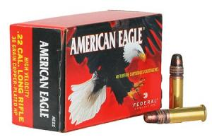 Federal American Eagle 38 Grain Copper Plated Hollow Point Brass .22 LR 40Rds AE22