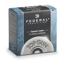 """Federal, Top Gun Target, 12 Gauge, 2 3/4"""", 1 1/8 oz. Shotshells, 25 Rounds 029465019372"""