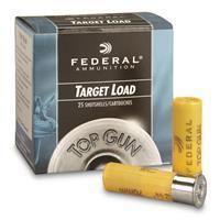"""Federal, Top Gun Target, 20 Gauge, 2 3/4"""", 7/8 oz. Shotshells, 25 Rounds 029465025014"""