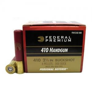 Federal Personal Defense .410Bore 2.5-inch 000BK 4Pellets 20Rds PD412JGE00