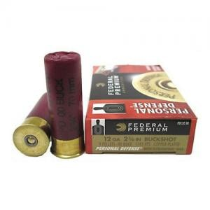 Federal Personal Defense 12GA 2.75-inch 00 Buck 9 Pellets 5rds PD13200