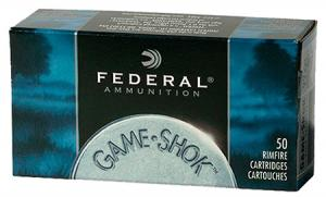 Federal Game-Shok 31 Grain Copper Plated Hollow Point Brass .22 LR 50Rds 724