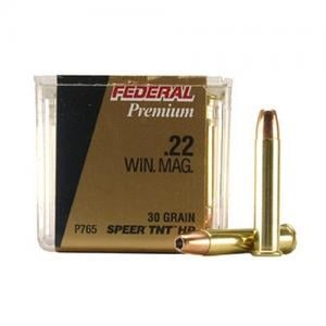 Federal Premium 22 Mag 30GR Jacketed Holllow Point 50rds P765