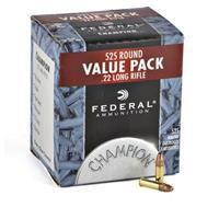 Federal, Champion, .22LR, HP, 36 Grain, 525 Rounds 745